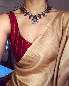 54 Ideas For Wedding Indian Dress Color Combinations India Sari Blouse Designs, Saree Blouse Patterns, Indian Dresses, Indian Outfits, Indian Clothes, Saree Jewellery, Jewellery Shops, Silver Jewellery, Jewellery Box