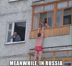 MEME - Meanwhile in Russia - www.funny-pictures-blog.com