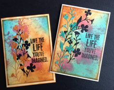 - A Colourful Life by susie australia - Cards and Paper Crafts at Splitcoaststampers Card Making Inspiration, Making Ideas, Distress Ink Techniques, Embossing Techniques, Tim Holtz Distress Ink, Scrapbooking, Artist Trading Cards, Watercolor Cards, Card Tags