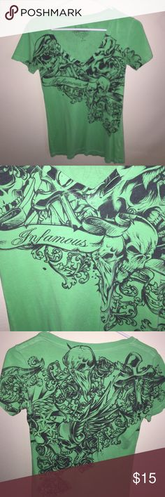 Infamous T-shirt Green and Black Infamous Tshirt. Great condition Infamous Tops Tees - Short Sleeve