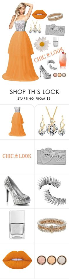 """""""Prom Dream"""" by dogzprinted ❤ liked on Polyvore featuring Mundi, Trish McEvoy, Nails Inc., Napier, Lime Crime and By Terry"""