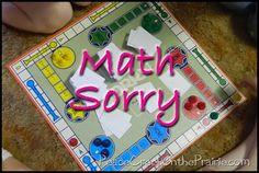 Math Sorry a math game to help them learn their math drills.