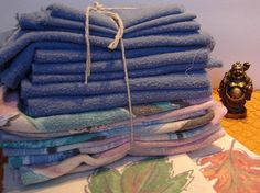 Repurposed Cotton Flannel Sheets Cleaning by NopalitoVintageMore, $7.00