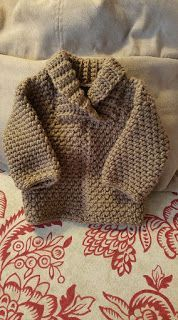 Young at Heart: Baby Shawl Collar Sweater - Limited Free Crochet pattern