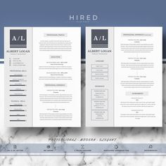 Modern Resume Template  Cv Template For Word  Resume Template