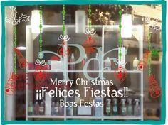 vinilos decorativos vidrieras navideñas - Buscar con Google