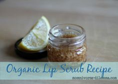 diy lip sugar scrub http://www.momnivores-dilemma.com/diy-honey-lemon-lip-scrub/