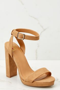 ac02a0fced73 Tan Platform Heels - Suede Ankle Strap Heels -  32.00 – Red Dress Boutique  Platform Sneakers