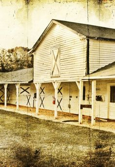 Old Picture, And Very Old Horse Barn