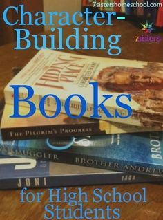 Books for High School Students Why character building is so important for homeschool high schoolers.Why character building is so important for homeschool high schoolers. High School Reading, High School Literature, High School Curriculum, Homeschool Curriculum, American Literature, High School Books, Catholic Homeschooling, Online Homeschooling, Teaching Literature