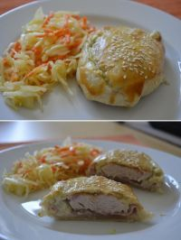 Kuřecí kapsy Czech Recipes, Ethnic Recipes, Baked Potato, Chicken Recipes, Food And Drink, Potatoes, Meat, Baking, Czech Food