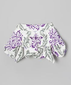 Look at this Trish Scully Child Purple & White Damask Handkerchief Skirt - Toddler & Girls on #zulily today!