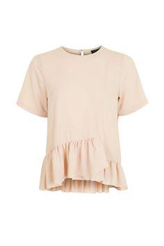 Frill Hem T-Shirt - Tops - Clothing - Topshop Europe