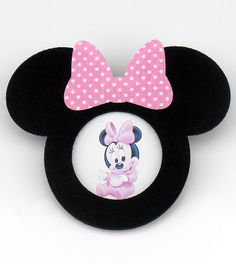 Felt Minnie Mouse Shaped Frame with Magnet For Your by KeceSus