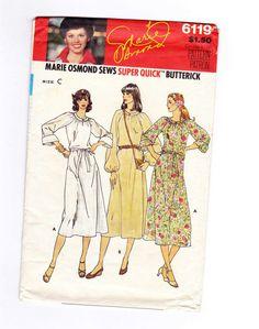 Womens Dress, Boho Dress Pattern, Marie Osmond Sewing Pattern,  Fits Sizes  14-16-18