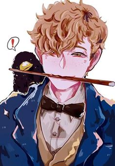Fantastic Beasts and Where to Find Them - Newt Scamander and Niffler Harry Potter Fan Art, Harry Potter Anime, Estilo Harry Potter, Fans D'harry Potter, Harry Potter Drawings, Harry Potter Universal, Harry Potter Fandom, Harry Potter Memes, Harry James Potter