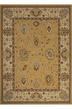 Allen Roth Rectangular Cream Floral Hand Hooked Wool Area