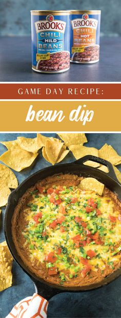 Ready for a must-have party appetizer? Check out this recipe for an Easy-to-Make Bean Dip! Featuring bold Brooks® Chili Beans, tangy chipotle sauce, and plenty of ooey, gooey cheese, it's not hard to see why this flavorful dish will be such a hit on your game day menu. Grab all the ingredients you'll need to score a touchdown of flavor this fall season by heading to Meijer.