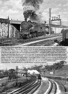 Grey Wallpaper Iphone, Buses And Trains, Steam Railway, Standard Gauge, Britain Uk, Peak District, Steam Engine, Steam Locomotive, Railroad Tracks