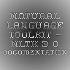 Natural Language Toolkit — NLTK 3.0 documentation