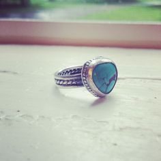 Turquoise heart ring. #Turquoise #ring #sweetfarmjewelry
