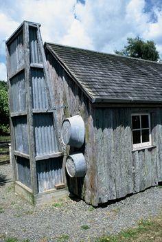 corrugated iron chimney