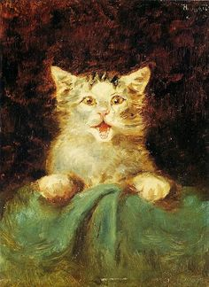 Le    Chat           1882            Henri     de    TOULOUSE - LAUTREC   French,        Printmaker  -  Illustrator,      Post  -  Impressionist     period        oil   on   canvas
