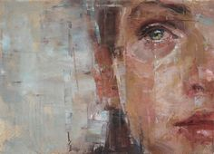 crying ~ oil ~ by joseph adolphe Contemporary Art, Modern Art, Joseph, Art Thou, Expressive Art, Eye Art, Art Oil, Beautiful Paintings, Painting & Drawing