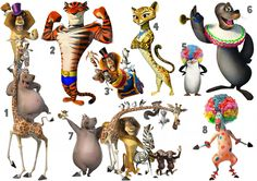 MADAGASCAR 3 STICKER WALL ART DECO DECALL MARTY GIA STEFANO VITALY