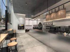 Cafe Restaurant, Industrial Restaurant, Restaurant Design, Cafeteria Design, Coffee Shop Bar, Coffee Store, Retail Interior, Office Interior Design, Small Cafe Design