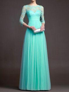 Vestido plisado maxi -turquesa 18.70