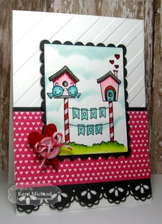 Valentine Wishes Card by Kerri Michaud #Cardmaking, #ValentinesLove, #TEMatched, #EmbossingFolders, #ShareJoy, #TE