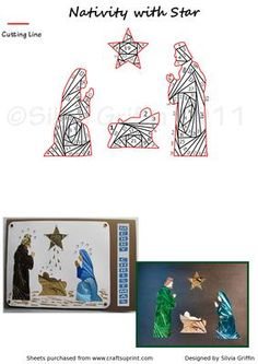 Nativity with Star IF on Craftsuprint - Add To Basket!