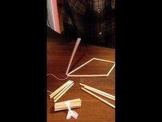 Himmeli 3 ways - Tutorial for creating geometric hanging decorations using straws - YouTube