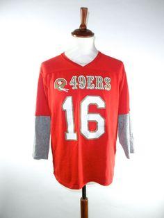 3/4 Sleeve Joe Montana San Francisco 49ers by PacificWonderland, $50.00