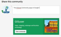 GISuser Community page on G+