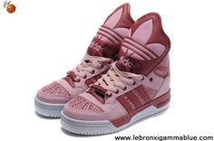 Latest Listing Discount Girl Adidas X Jeremy Scott Big Tongue Shoes Pink Sports Shoes Shop