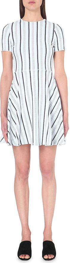 OPENING CEREMONY Striped stretch-jersey dress | SELFRIDGES saved by #ShoppingIS