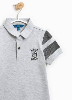 b8ed8b7caa71c Buy online Printed polo shirt in 100% cotton on OVS. Find the best offers