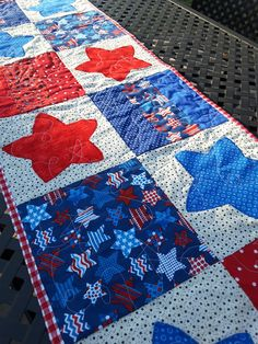 Check out this item in my Etsy shop https://www.etsy.com/listing/269142402/table-runner-patriotic-reversible-fourth