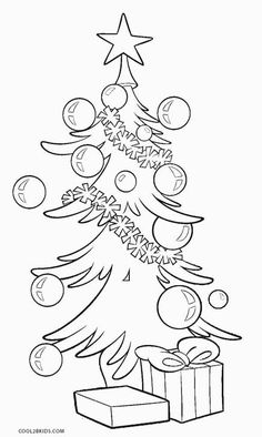 Printable Christmas Tree Coloring Pages For Kids Cool2bkids