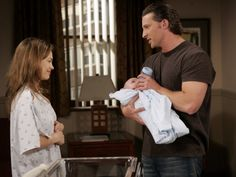 We just had to throw in one more photo here, because how adorable is Jason the Reluctant Father?