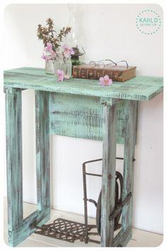 Mesa pie maquina - Vintage y Reciclado - Muebles Artesanales - 513855