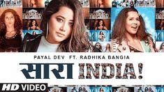 Saara India Lyrics in hindi by Payal Dev ft Radhika Bangia