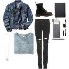 A fashion look from May 2014 featuring long-sleeve crop tops, jean jacket and skinny jeans. Browse and shop related looks. Long Sleeve Crop Top, Polyvore Outfits, Fashion Looks, Skinny Jeans, Crop Tops, Winter, Sleeves, Pants, Jackets