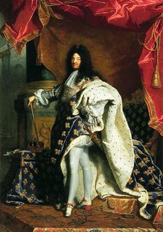 Portrait of Louis XIV, King of France & Navarre  --  1701  --  Hyacinthe Rigaud  --  French  --  Oil on canvas  --  The Louvre  --  Paris, France