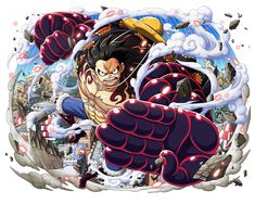 One Piece Wallpapers Mobile : New World , Luffy by on DeviantArt One Piece Gear 4, One Piece Games, One Piece Crew, One Piece World, Luffy Gear Fourth, Luffy Gear 4, One Piece Manga, Anime Echii, Anime Art