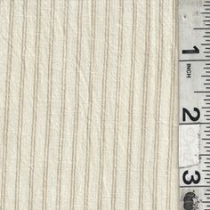 Ivory/Tan Stripe Shirting - Fabric By The Yard