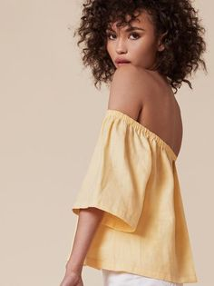 My 8 Favorite Finds From Reformation Curly Hair Cuts, Curly Hair Styles, Natural Hair Styles, Isabella Peschardt, Off Shoulder Blouse, Off The Shoulder, Permanent Waves, Suits, Warm Weather
