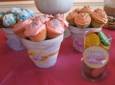Cute cupcakes for a Lalaloopsy party